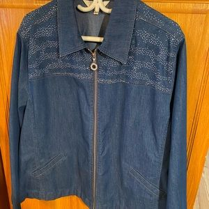 Tradition beautiful rivet Jeans Jacket